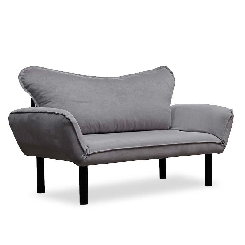 """Καναπές κρεβάτι """"PWF-0286"""" 2θέσιος με ύφασμα χρώμα γκρι 156x80x80"""
