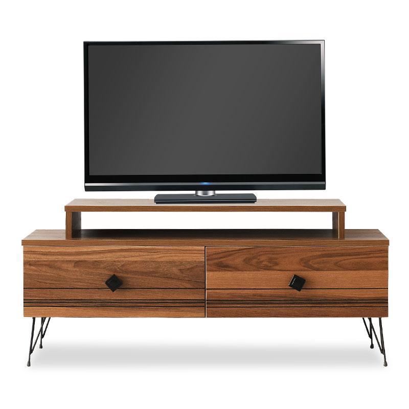 """Έπιπλο τηλεόρασης """"PWF-0308"""" σε χρώμα καρυδί – μαύρο 110x41x49"""