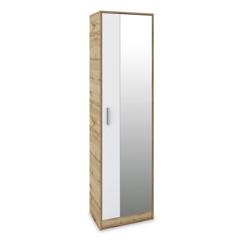 """Παπουτσοθήκη-ντουλάπι """"ASTRA"""" 16 ζευγαριών σε σονόμα-λευκό χρώμα 50x32x182"""