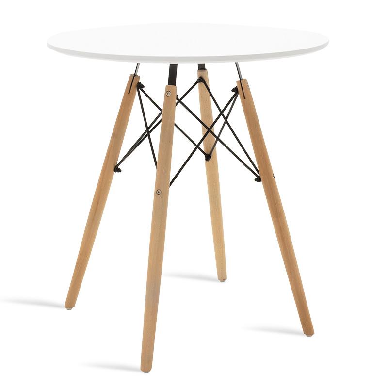 """Τραπέζι """"JULITA"""" στρογγυλό σε χρώμα λευκό Φ70×73"""