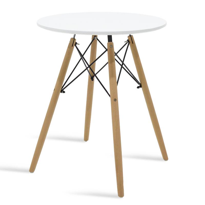 """Τραπέζι """"JULITA"""" στρογγυλό σε χρώμα λευκό Φ60×73"""