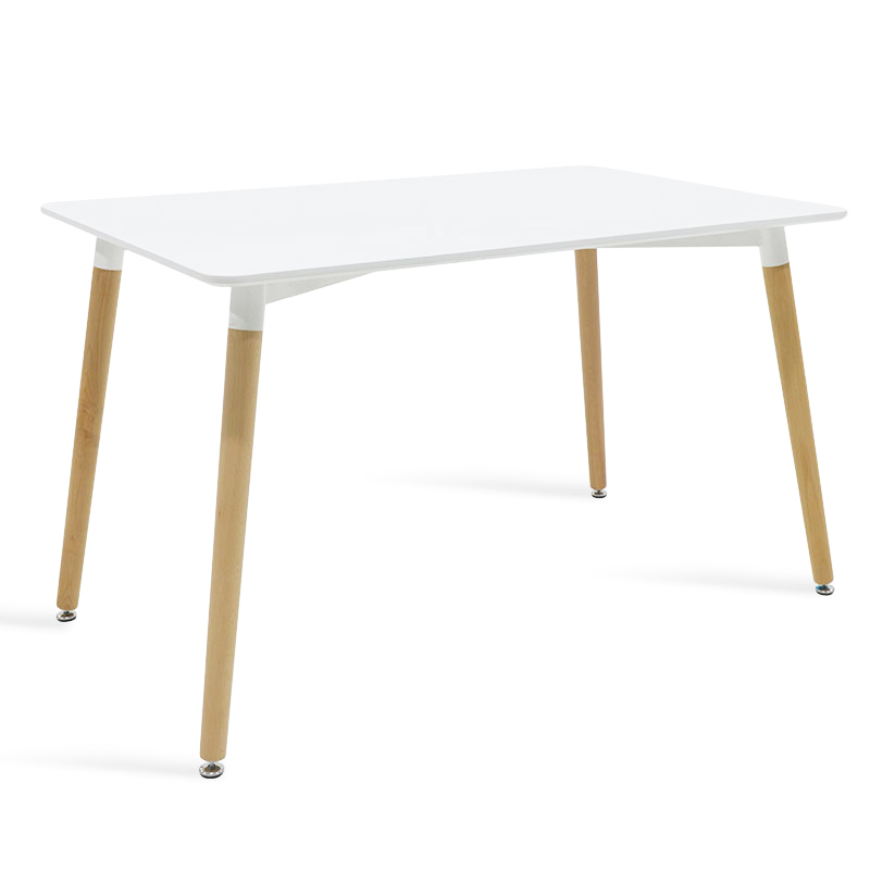 """Τραπέζι """"NATALI"""" τετράγωνο σε χρώμα λευκό 120x80x76"""
