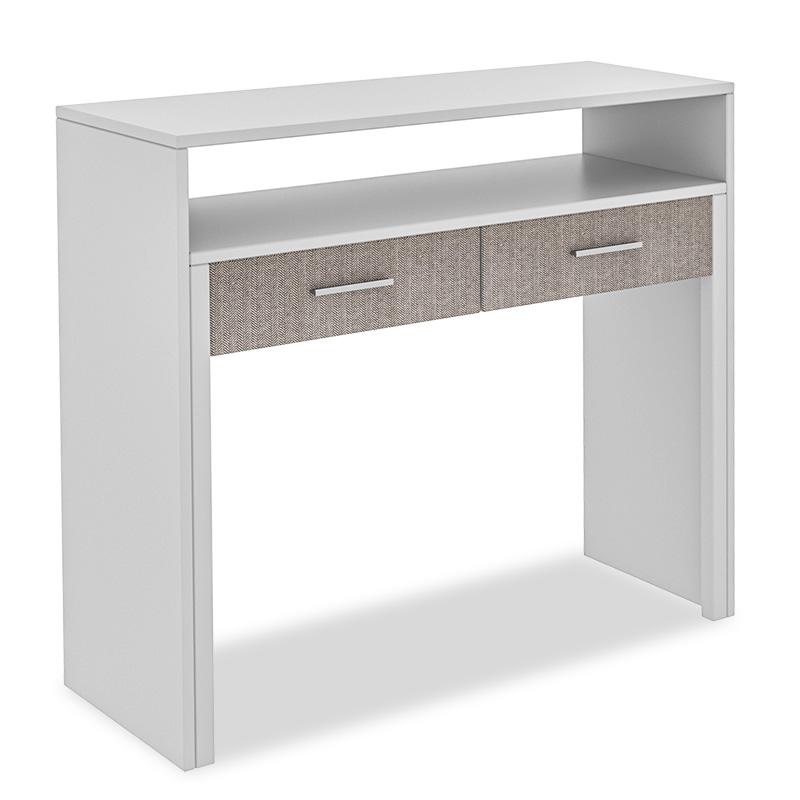 """Κονσόλα-γραφείο """"PWF-0330"""" επεκτεινόμενο χρώμα λευκό 99×36-66×88"""