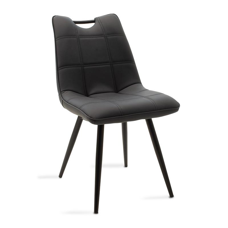 """Καρέκλα """"NELY"""" μεταλλική-pu σε μαύρο χρώμα 47x61x85"""
