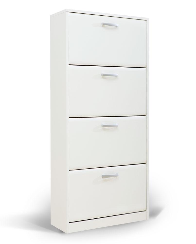"""Παπουτσοθήκη """"ODISEJ 4V"""" σε χρώμα λευκό 70x28x157"""