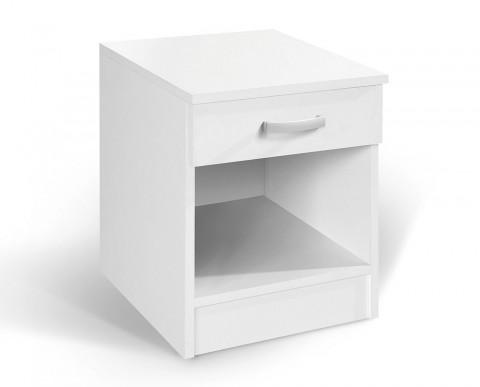 """Κομοδίνο με συρτάρι """"ALFA"""" σε χρώμα λευκό 40x43x52"""