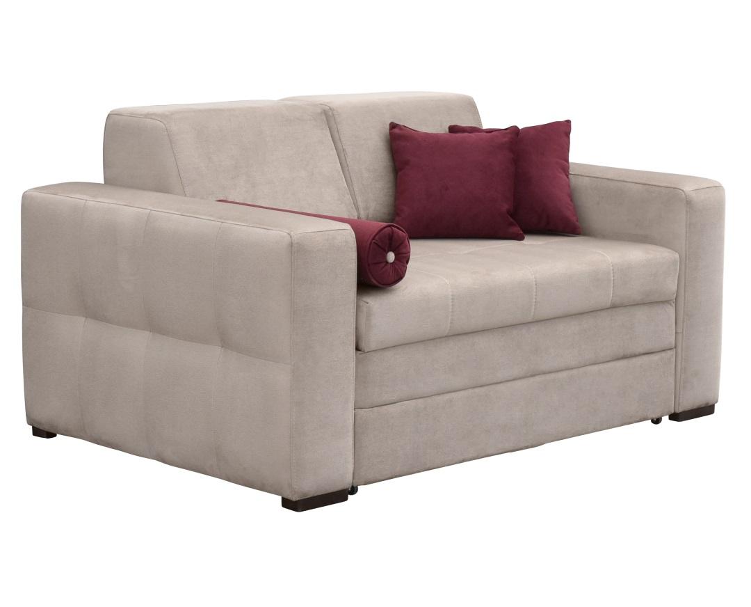 """Καναπές-κρεβάτι """"LIVING"""" διθέσιος υφασμάτινος σε μπεζ χρώμα 160x101x83"""