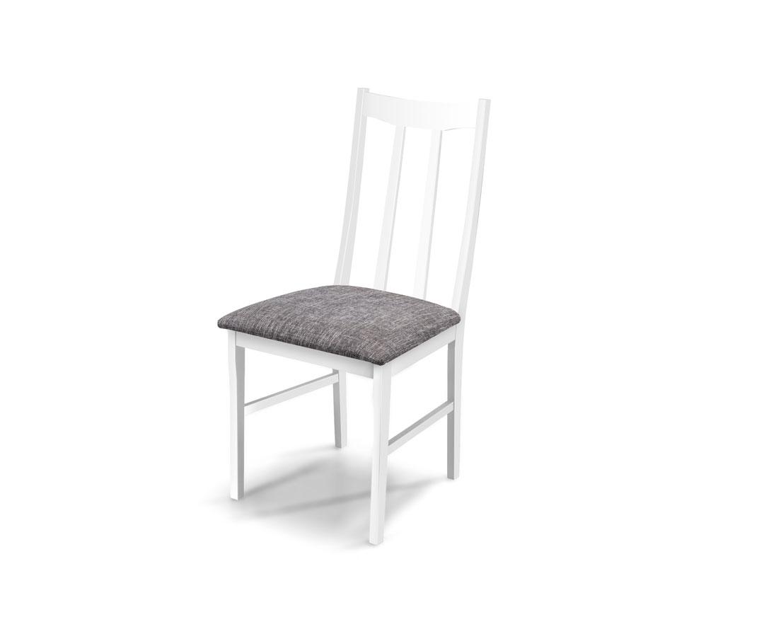 """Καρέκλα """"QUEEN"""" από ξύλο μασίφ σε χρώμα λευκό-γκρι 42x45x95"""