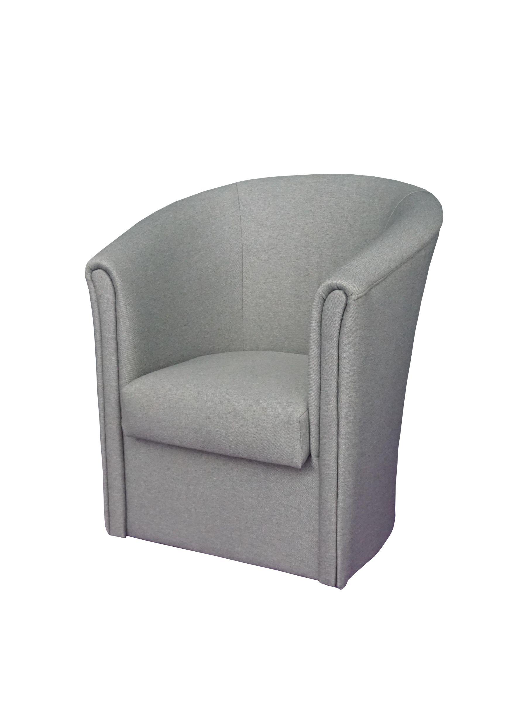 """Πολυθρόνα """"PETALO"""" υφασμάτινη σε γκρι χρώμα 76x70x83"""