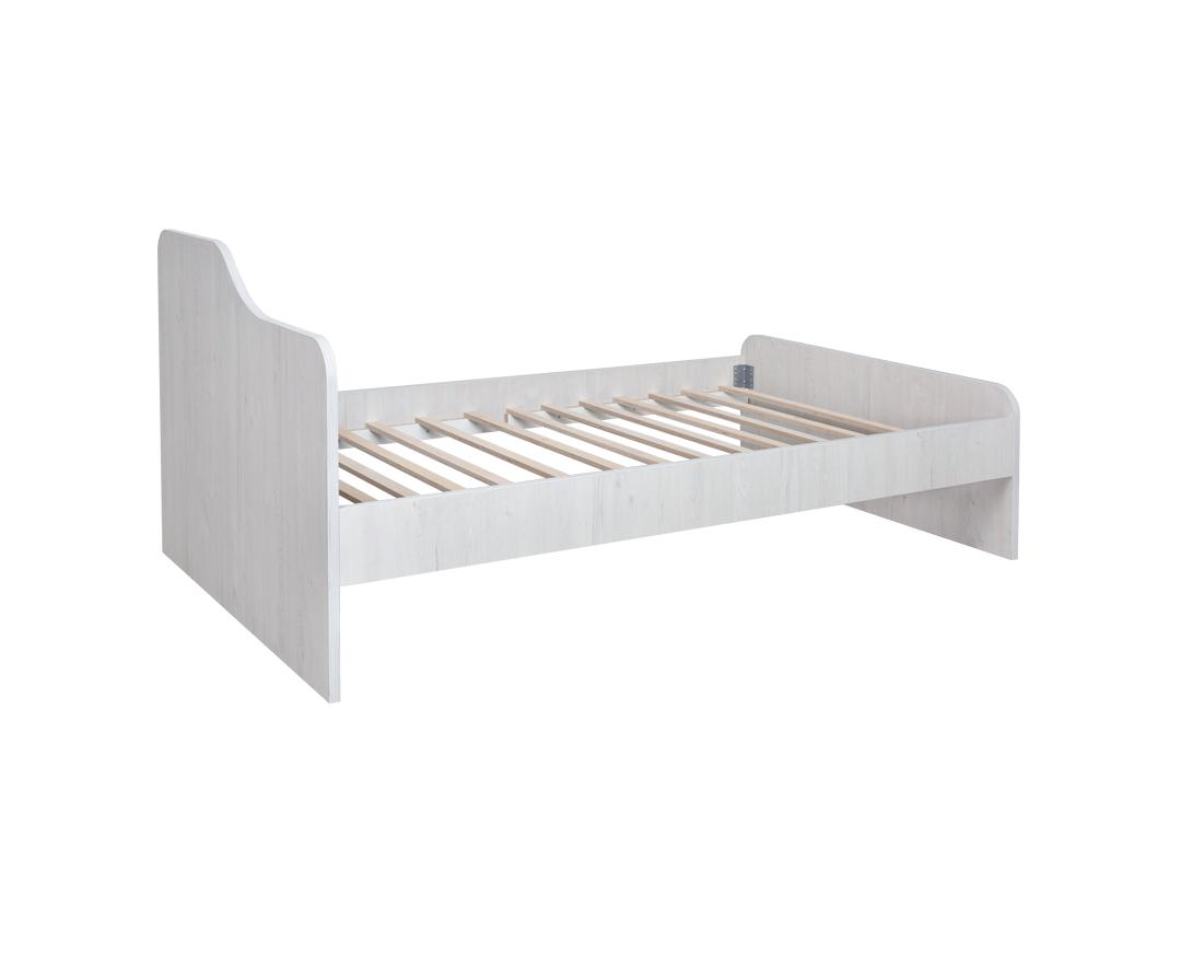 """Κρεβάτι παιδικό """"NUMERO"""" ημίδιπλο σε λευκό δρυς χρώμα 125x90x205"""