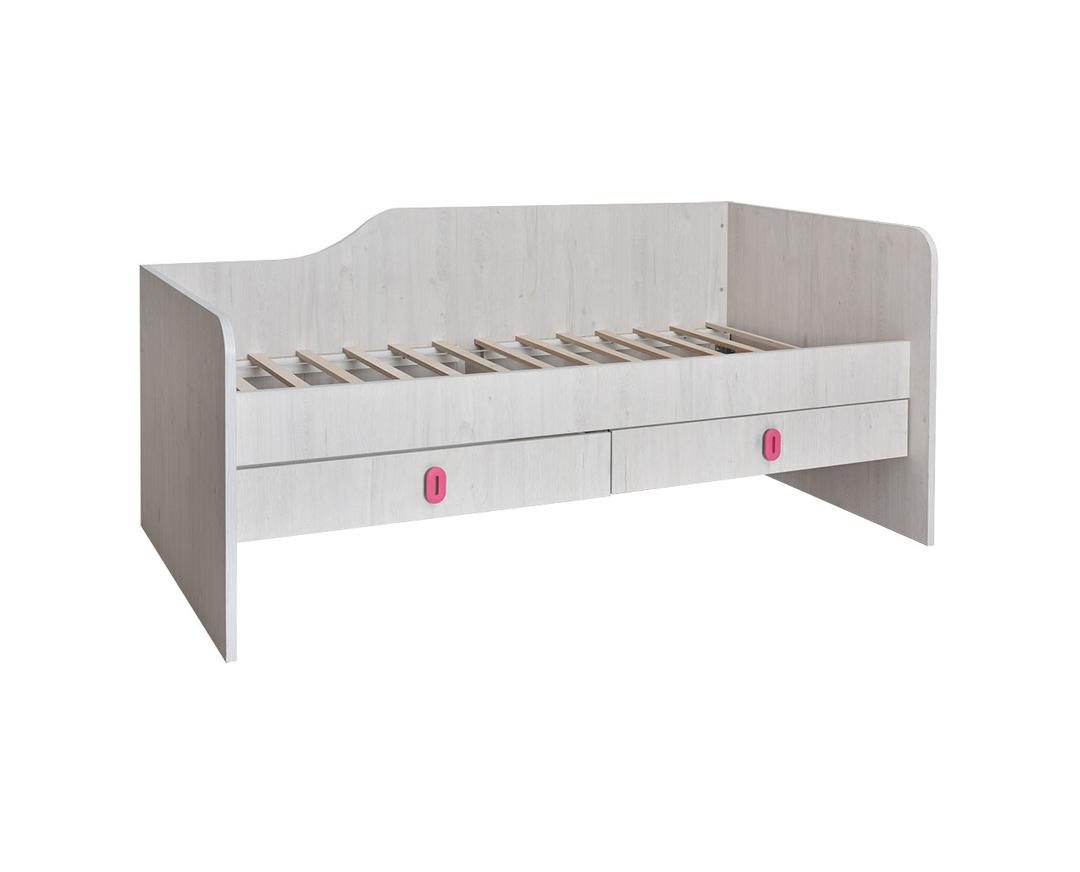 """Κρεβάτι παιδικό """"NUMERO"""" με συρτάρια σε λευκό δρυς χρώμα 205x102,5x90"""