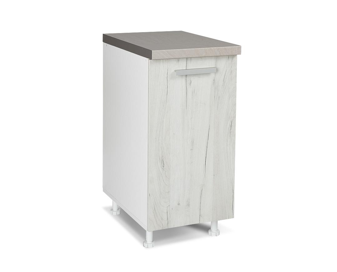 """Κάτω ντουλάπι """"ΙΝ"""" σε λευκό δρύς χρώμα 40x60x85"""