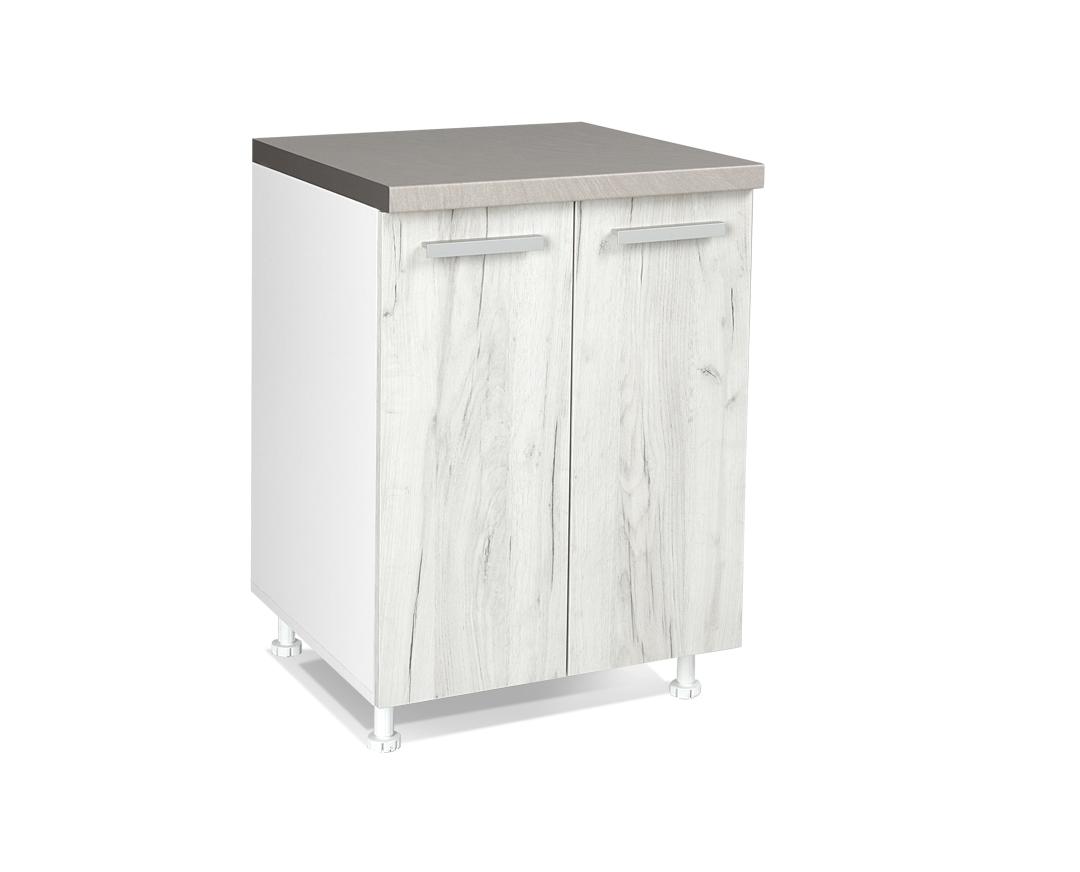 """Κάτω ντουλάπι """"ΙΝ"""" σε λευκό δρύς χρώμα 60x60x85"""