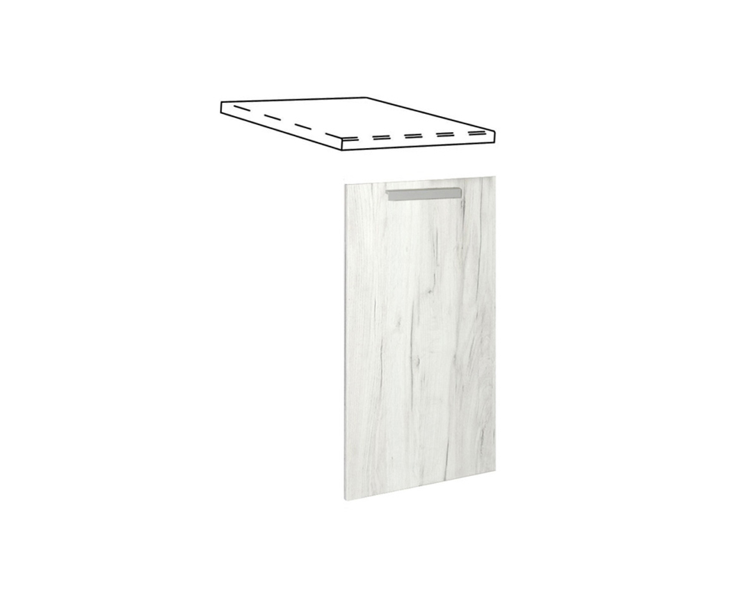 """Καλυπτικό πλυντηρίου πιάτων """"IN"""" σε λευκό δρύς χρώμα 45x1,08x55"""