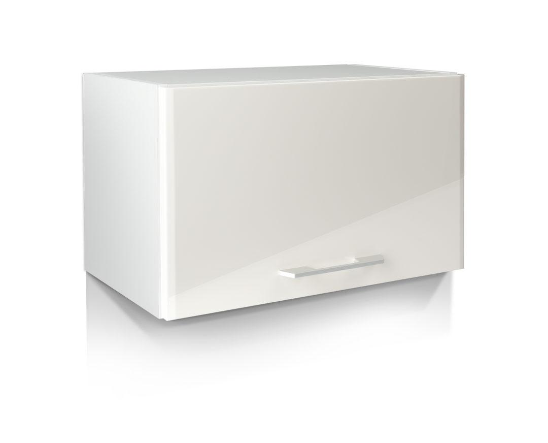 """Κρεμαστό ντουλάπι κουζίνας """"IN MDF"""" σε μπεζ γυαλιστερό χρώμα 60x31x36"""