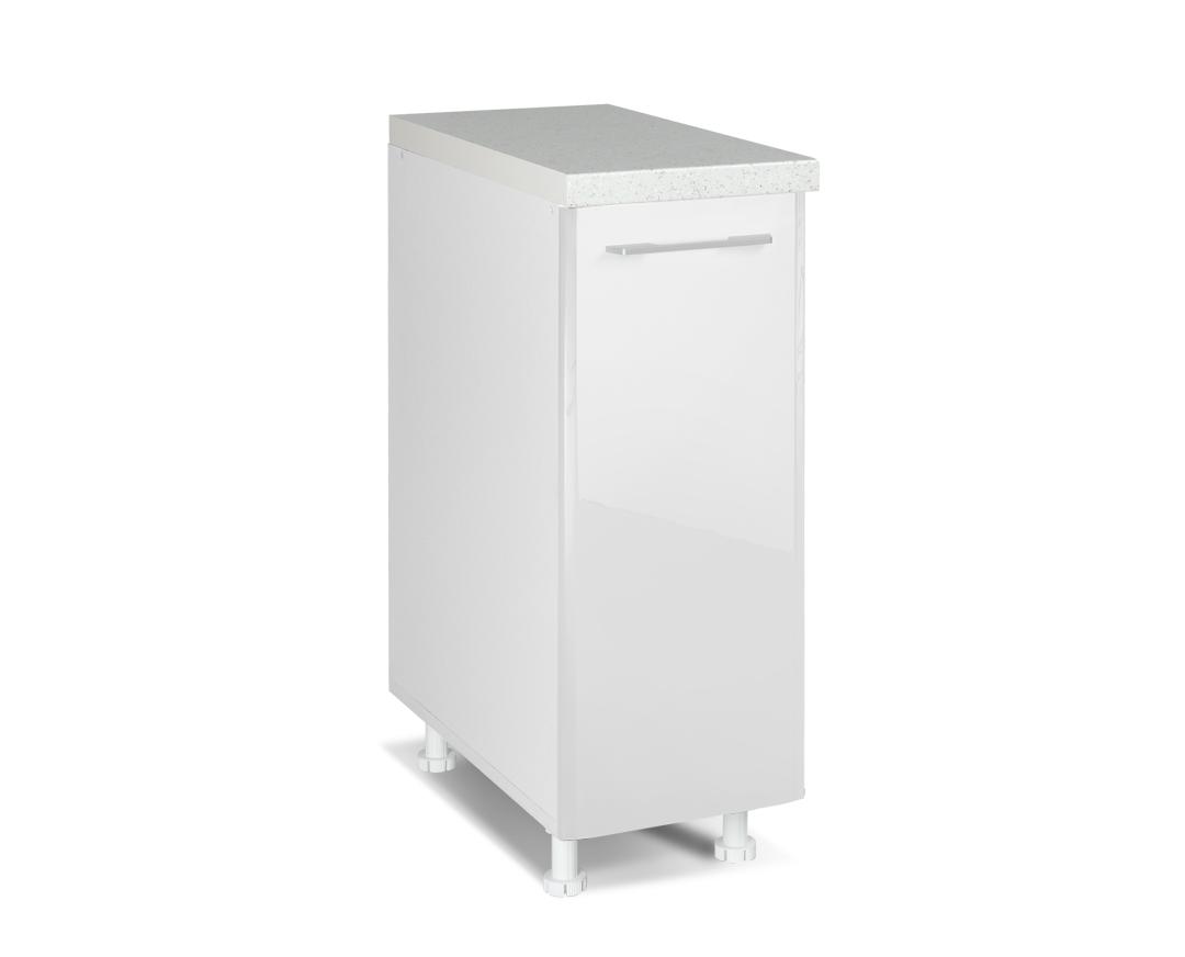 """Κάτω ντουλάπι """"IN MDF"""" σε λευκό γυαλιστερό χρώμα 30x60x85"""