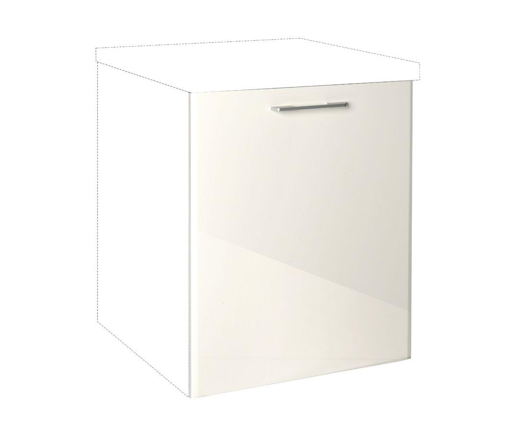 """Καλυπτικό πλυντηρίου πιάτων """"IN MDF"""" σε μπεζ γυαλιστερό χρώμα 72x1,08x55"""