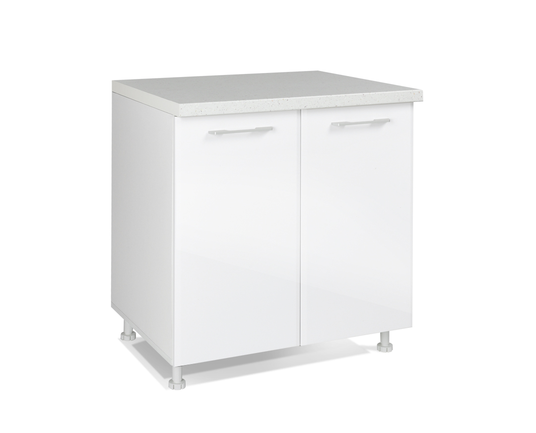 """Κάτω ντουλάπι """"IN MDF"""" σε λευκό γυαλιστερό χρώμα 80x60x85"""
