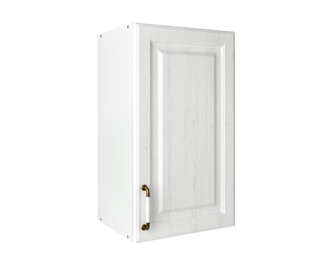 """Πάνω ντουλάπι κουζίνας """"RUSTIK"""" σε λευκό ρουστίκ χρώμα 40x31x72"""