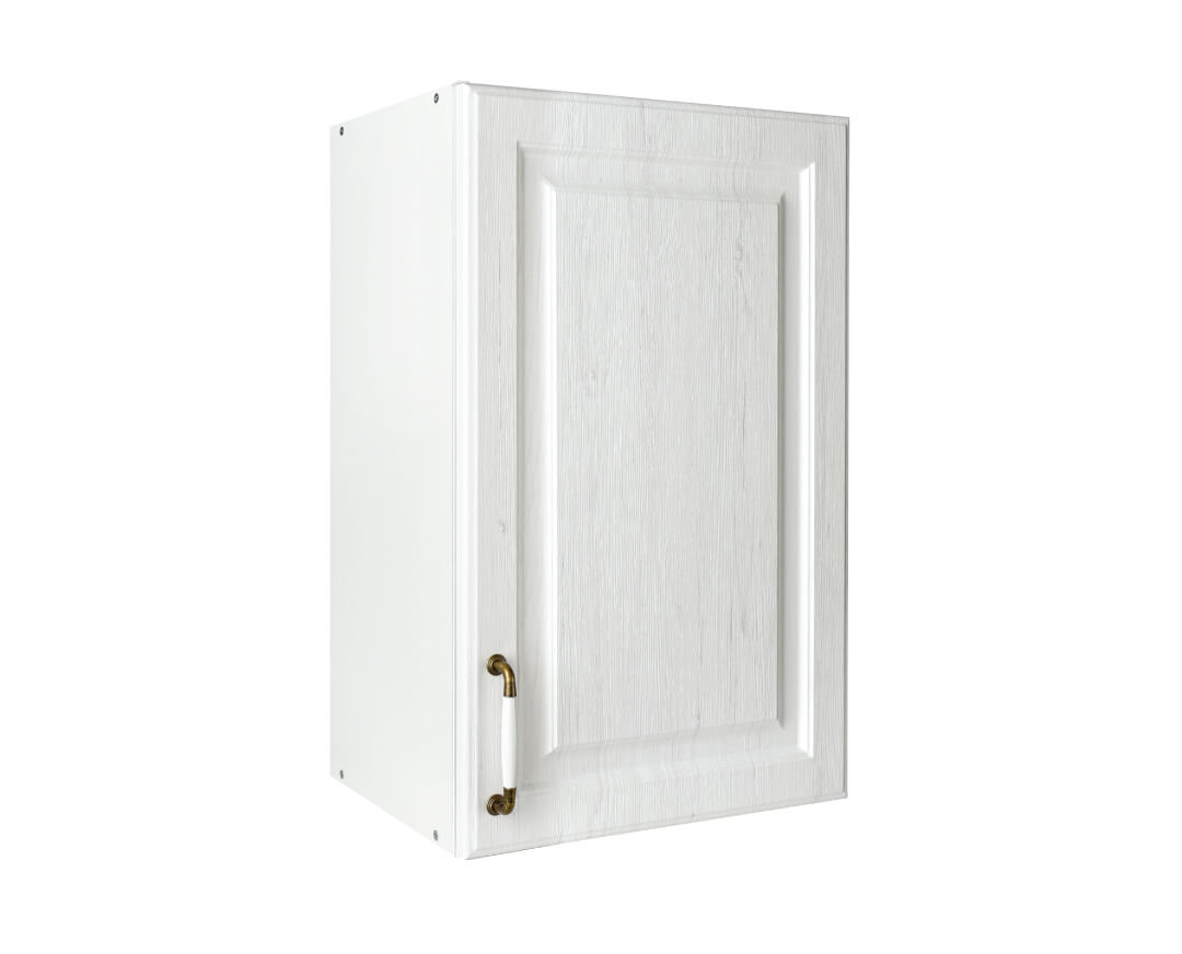 """Πάνω ντουλάπι κουζίνας """"RUSTIK"""" σε λευκό ρουστίκ χρώμα 45x31x72"""