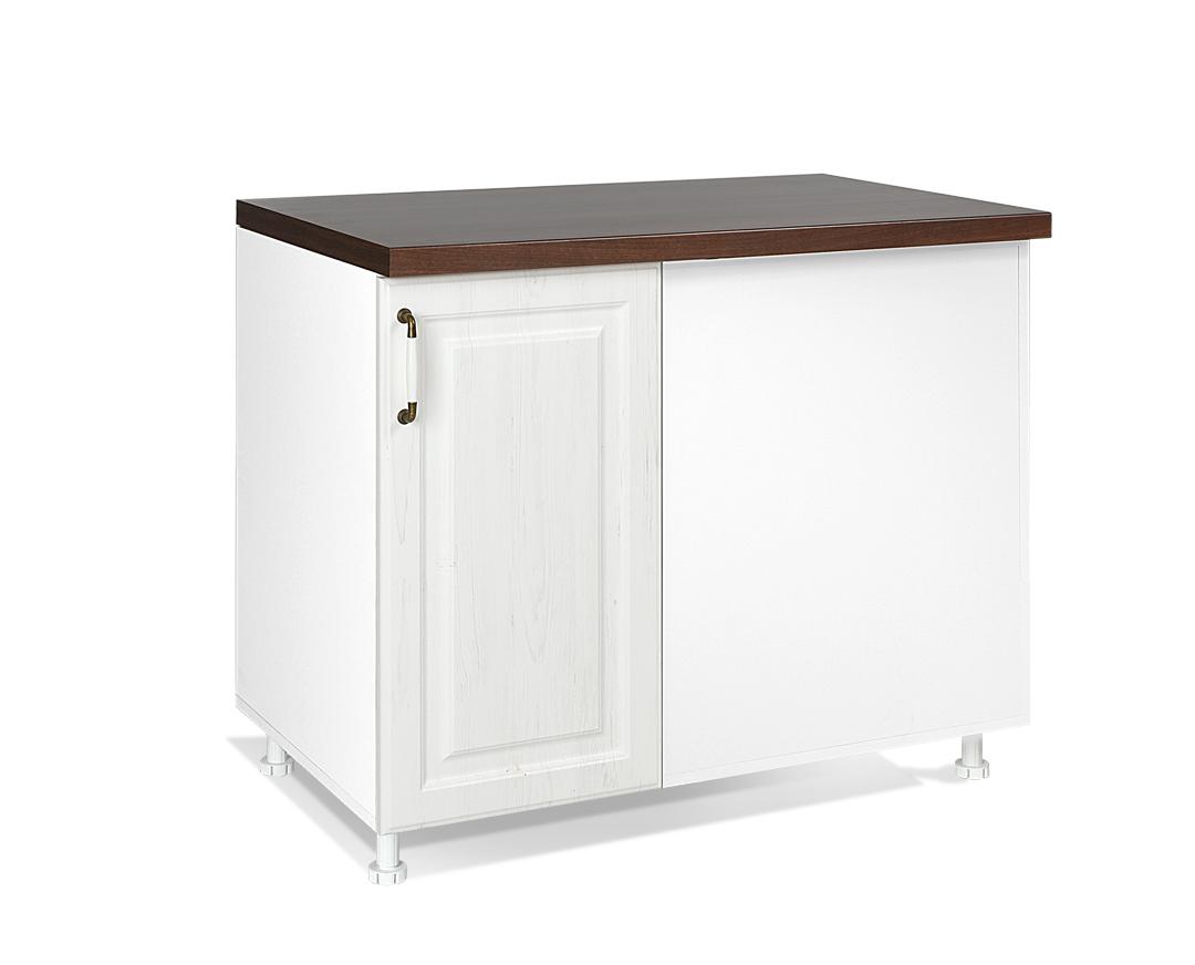 """Κάτω ντουλάπι κουζίνας """"RUSTIK"""" σε λευκό ρουστίκ χρώμα 100x60x85"""
