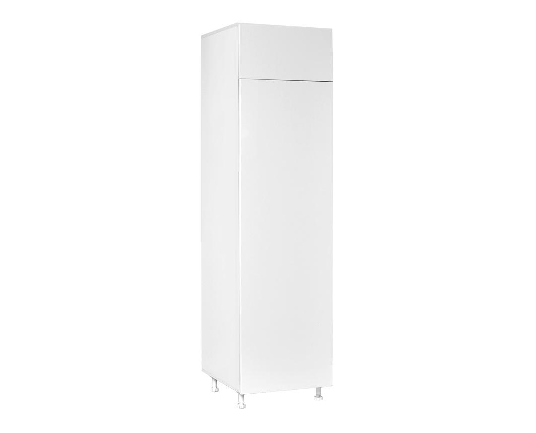 """Ντουλάπι ψυγείου """"ELEGANCE"""" σε λευκό γυαλιστερό χρώμα 60x60x222"""