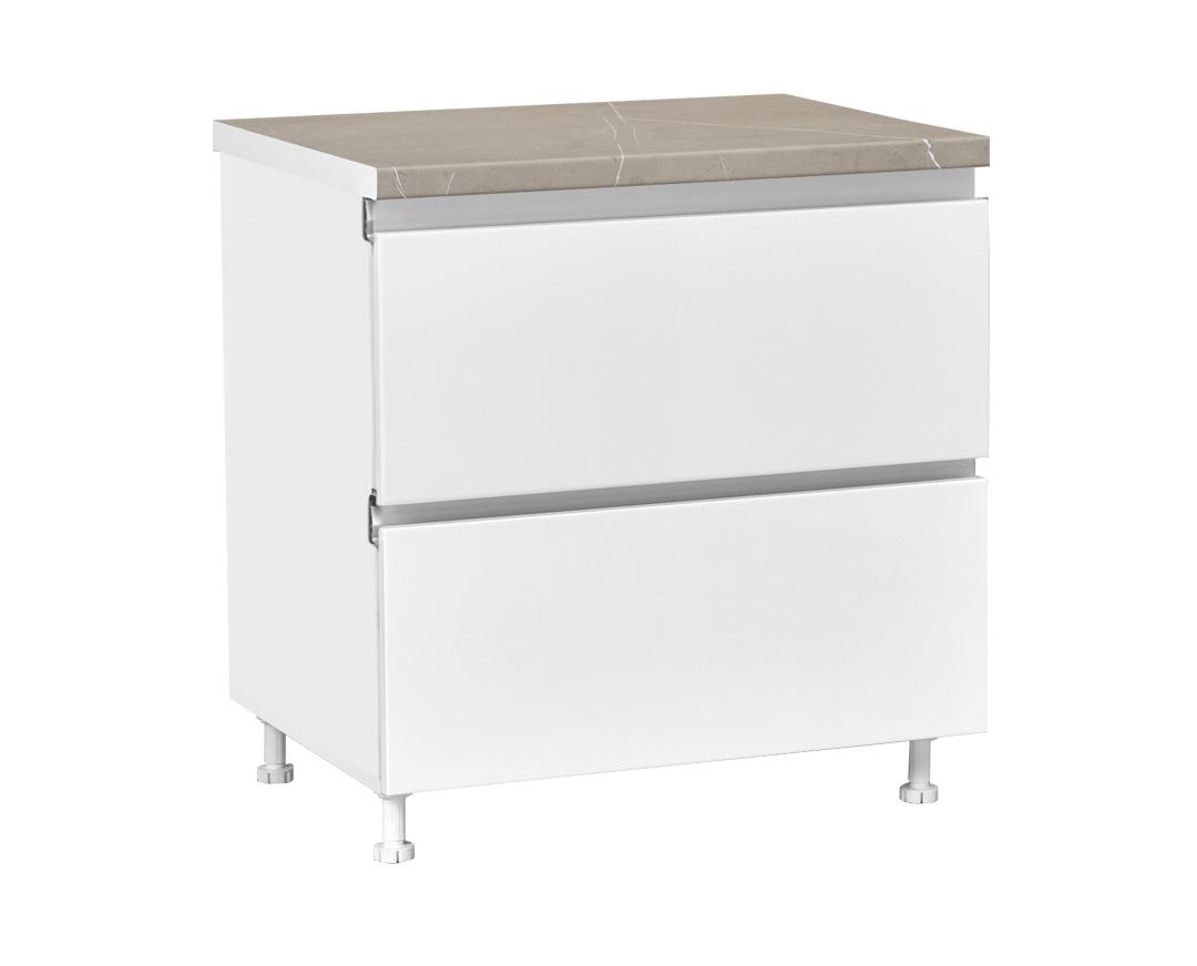 """Συρταριέρα κουζίνας """"ELEGANCE"""" σε χρώμα λευκό γυαλιστερό 80x60x85"""
