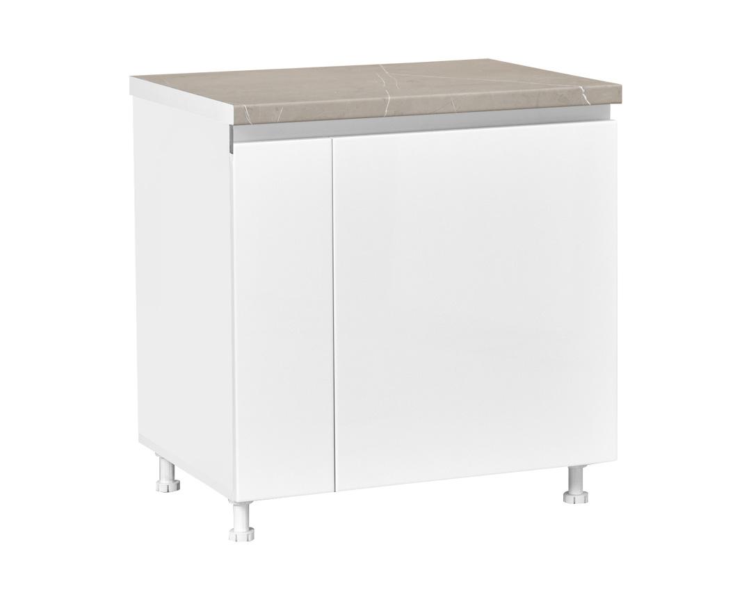 """Κάτω ντουλάπι κουζίνας """"ELEGANCE"""" σε λευκό γυαλιστερό χρώμα 80x60x85"""