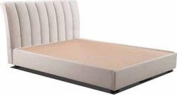 """Κρεβάτι """"CHICAGO"""" διπλό με ενσωματομένο στρώμα υφασμάτινο σε χρώμα μπεζ 160×200"""