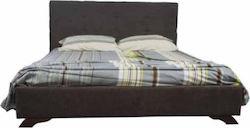 """Κρεβάτι """"LACTA"""" διπλό υφασμάτινο σε χρώμα καφέ 160×200"""
