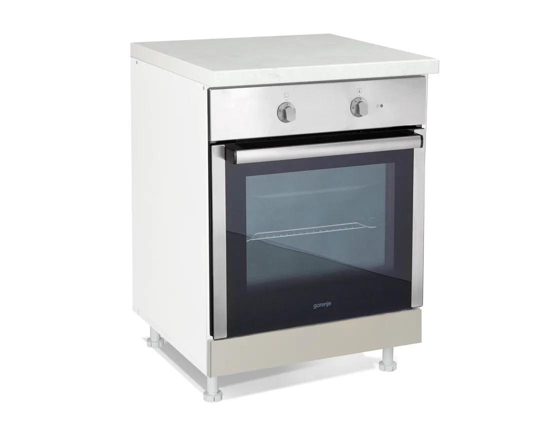 """Κάτω ντουλάπι κουζίνας """"ΙΝ"""" για ενσωματωμένο φούρνο σε χρώμα άμμου ματ 60x60x85"""