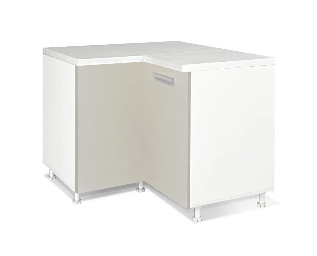"""Γωνιακό ντουλάπι κουζίνας """"ΙΝ"""" σε χρώμα της άμμου ματ 100/60×100/60×85"""