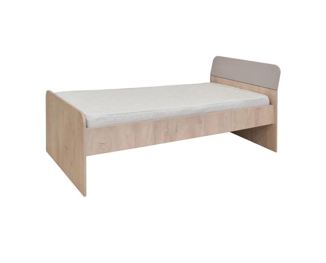 """Κρεβάτι μονό """"KINDER"""" στο χρώμα δρυς/άμμου ματ 205x93x75"""
