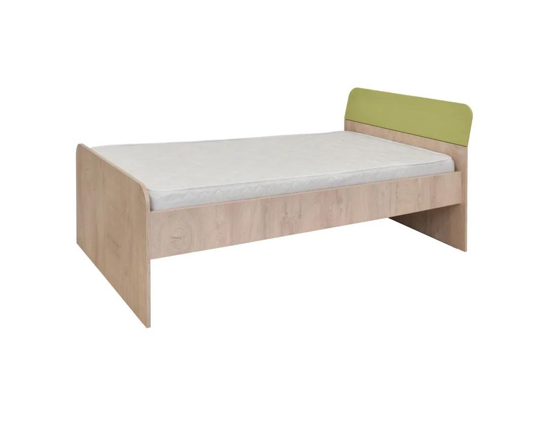 """Κρεβάτι ημίδιπλο """"KINDER"""" στο χρώμα δρυς/λαχανί 205x123x75"""