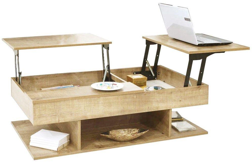 """Τραπέζι σαλονιού """"LINDA"""" σε φυσικό χρώμα 116,5x70x40"""