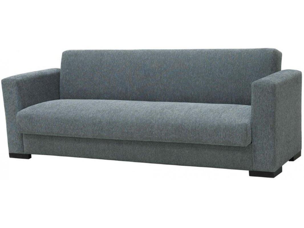 """Τριθέσιος καναπές-κρεβάτι """"SILIO"""" από ύφασμα σε γκρι χρώμα 216x75x77"""