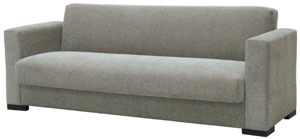 """Τριθέσιος καναπές-κρεβάτι """"SILIO"""" από ύφασμα σε μπεζ χρώμα 216x75x77"""