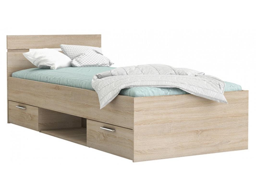 """Παιδικό κρεβάτι μονό """"ΟΗΙΟ"""" σε χρώμα δρυς 94,5x204,3x74,2"""