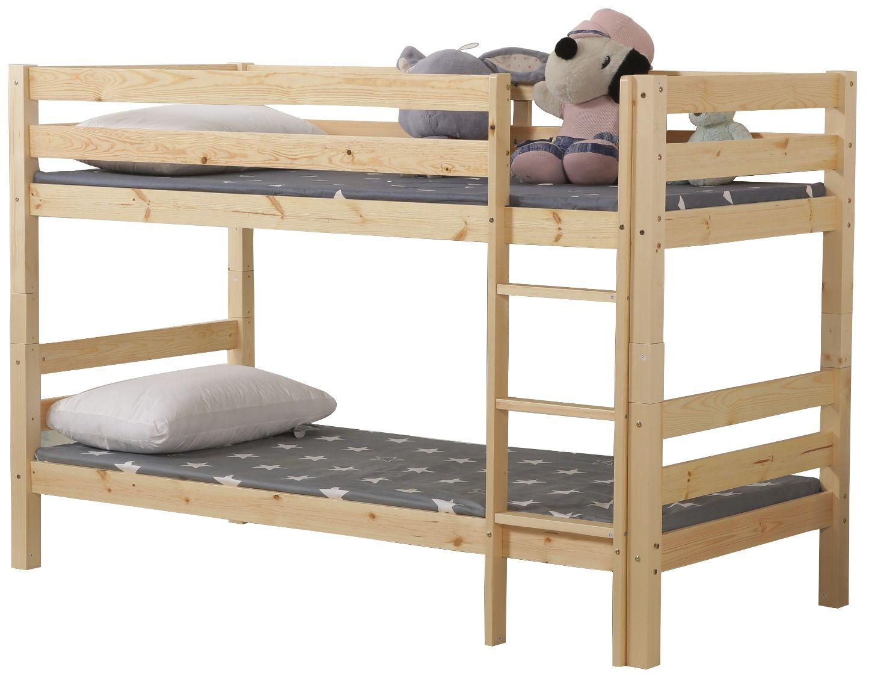 """Kουκέτα κρεβάτι """"BENEDICT"""" ξύλινη σε φυσικό χρώμα 103x208x140"""