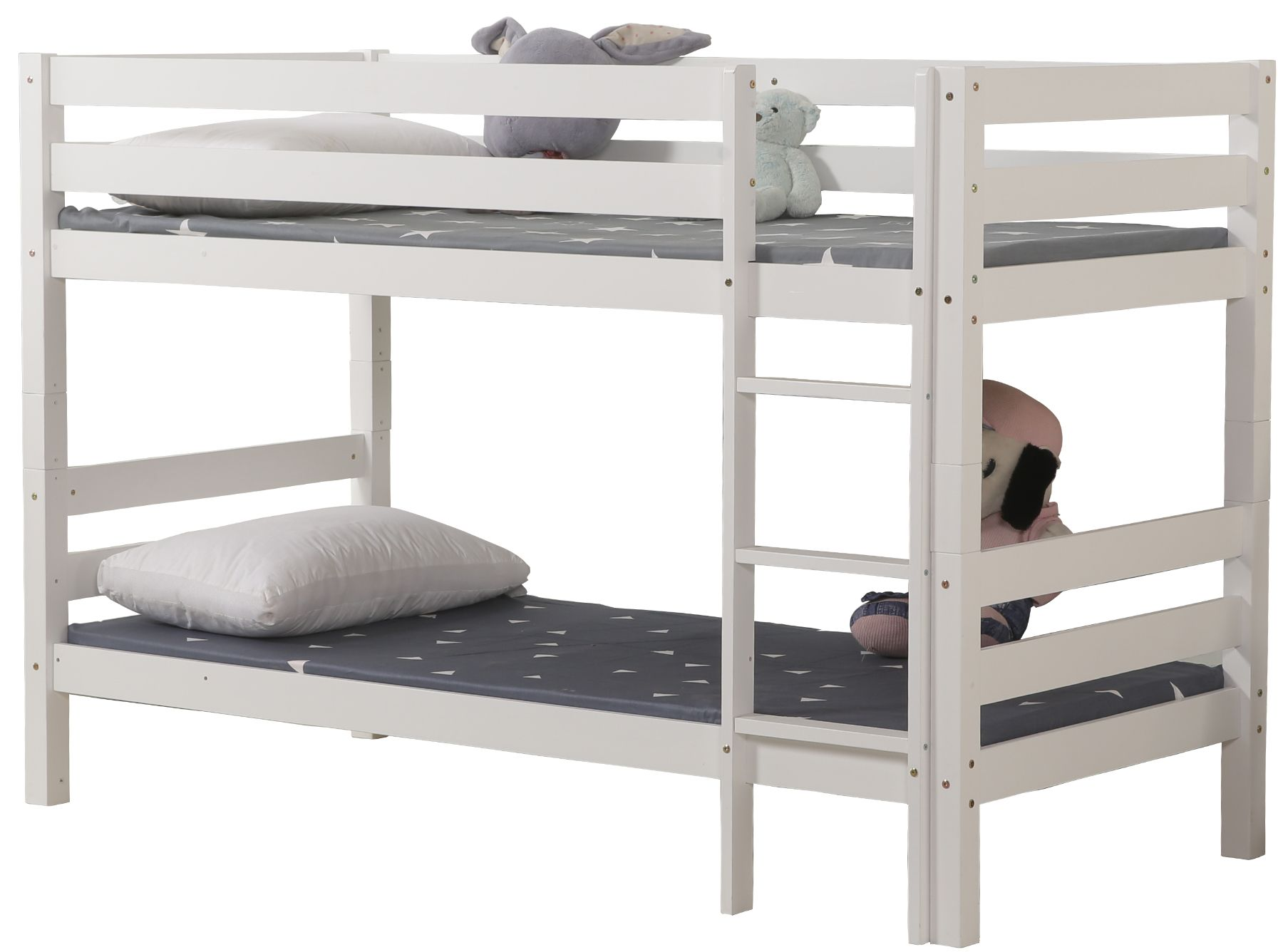 """Kουκέτα κρεβάτι """"BENEDICT"""" ξύλινη σε λευκό χρώμα 103x208x140"""
