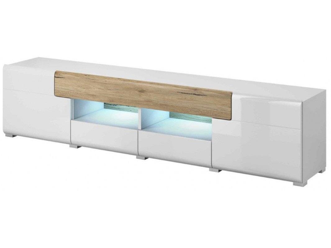 """Έπιπλο τηλεόρασης """"TOLDO"""" από mdf σε λευκό χρώμα 208x39x47"""