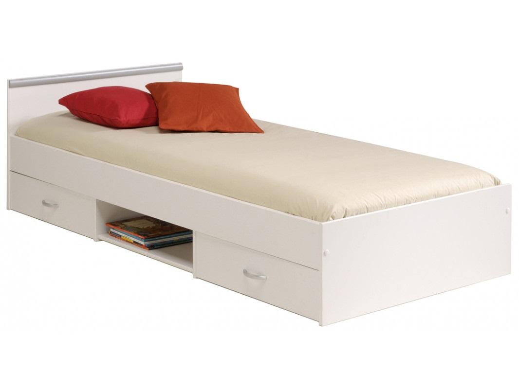 """Παιδικό κρεβάτι """"NOVEL"""" με συρτάρια σε λευκό χρώμα 90×200"""