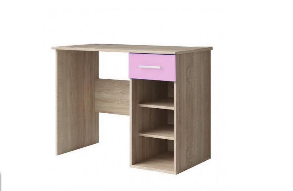 """Γραφείο παιδικό """"ΧΑΡΑ"""" σε δρυς-ροζ χρώμα 95x55x75"""