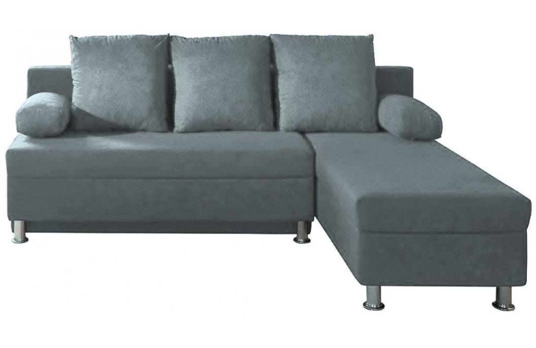 """Καναπές γωνία αναστρέψιμη-κρεβάτι """"SOCRATES"""" από ύφασμα/mdf σε χρώμα γκρι 193x140x85"""