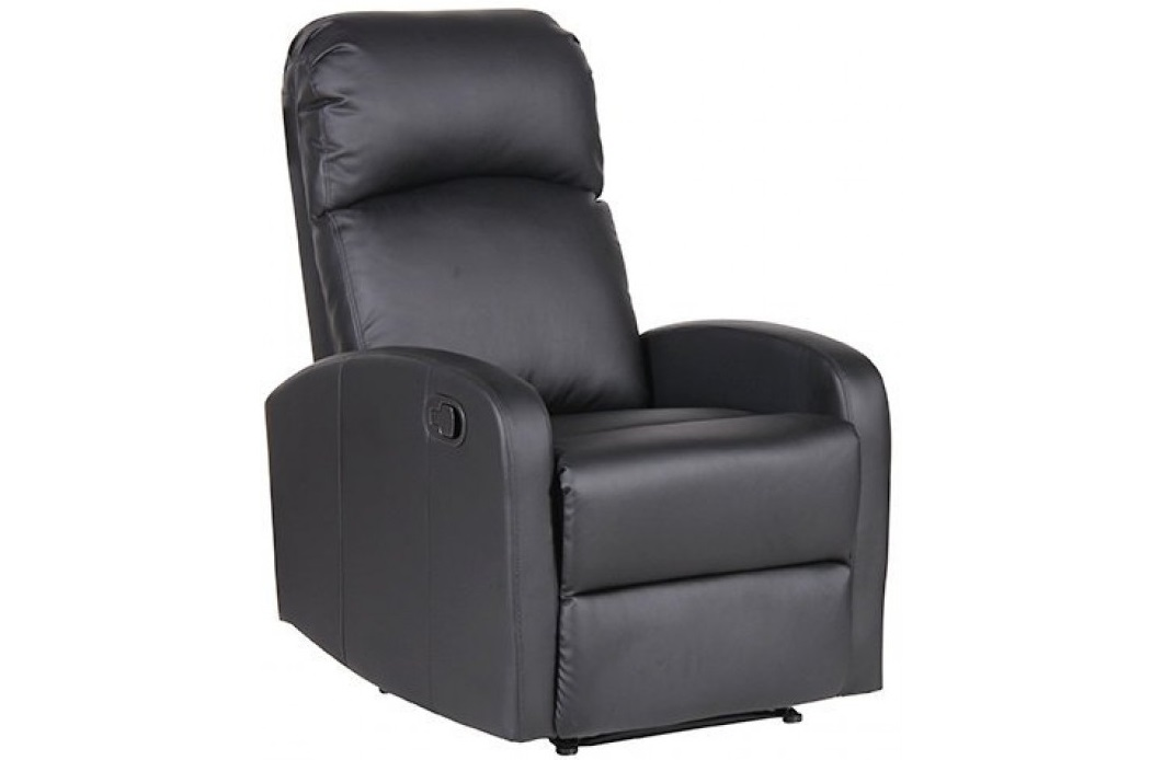 """Πολυθρόνα """"RELAX FRAY"""" από PU σε χρώμα μαύρο 64x78x103"""