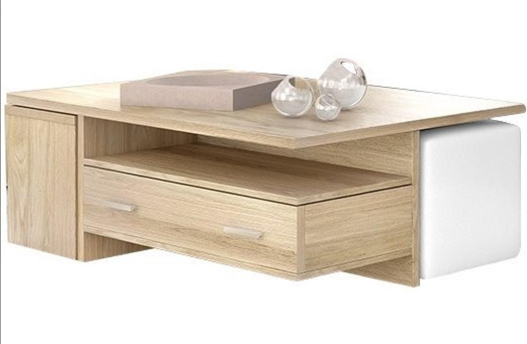 """Τραπέζι σαλονιού """"ΝΟ3"""" με σκαμπό σε χρώμα φυσικό 120x75x40"""