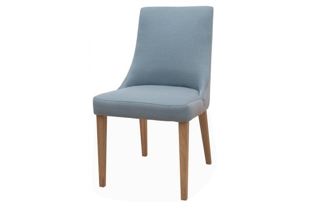 """Καρέκλα """"KORINA"""" από μασίφ ξύλο/ύφασμα σε χρώμα μπλε/μελί 50x54x91"""