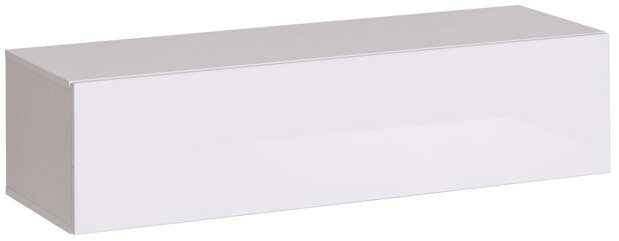 """Κρεμαστό έπιπλο τηλεόρασης """"SWISS II"""" σε χρώμα λευκό 120x40x30"""